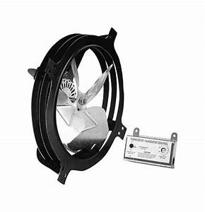 Air Vent 53320 Power Gable Attic Fan With Thermostat