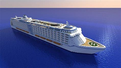 Huge Cruise Ship (DOWNLOAD) Minecraft Project