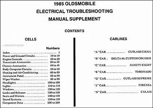1985 Oldsmobile Electrical Troubleshooting Repair Shop