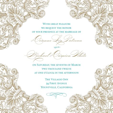 Web Invitation Template Blank wedding invitation