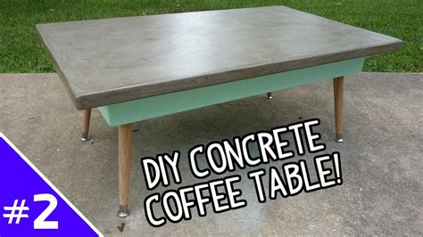concrete coffee table diy diy ardex concrete coffee table part 2 of 2 youtube