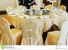 Chinese Banquette Table Setting Stock Image Image 13336993