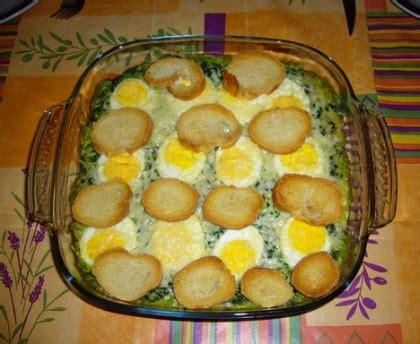 cuisine gateau épinards et oeufs durs à la béchamel recette de épinards