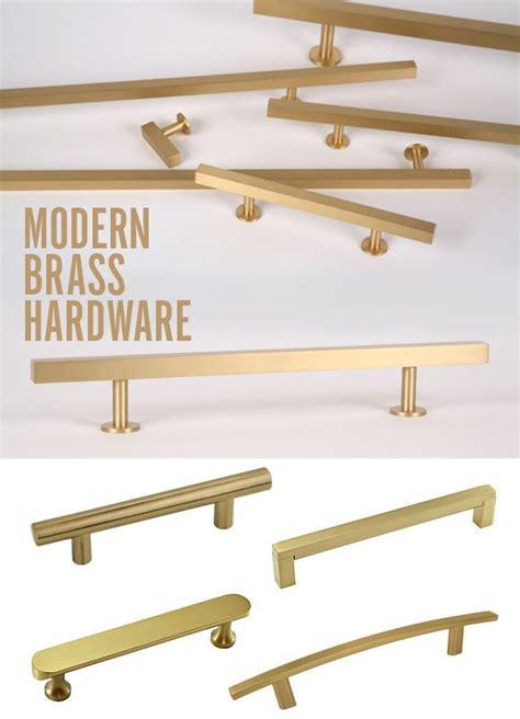 mid century cabinet hardware modern satin brass hardware to update a vintage mid