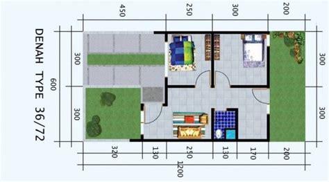 desain rumah tipe  luas tanah
