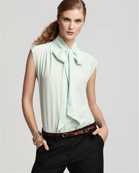 tie neck blouses pippa blouse silk cap sleeve tie neck bloomingdale 39 s