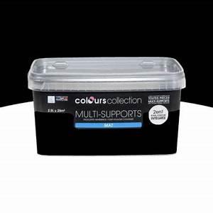 Peinture Noir Mat : peinture multi supports noir mat 2 5l castorama ~ Carolinahurricanesstore.com Idées de Décoration