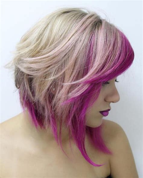 With Pink Highlights Hairstyles by 50 Best Variations Of A Medium Shag Haircut For Your