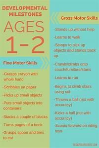 Infant Milestones Chart Toddler Development Milestones For Ages 1 2 Toddler