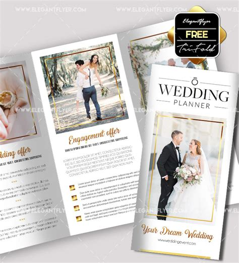 Wedding Free Tri Fold Psd Brochure Template By 50 Premium Free Psd Tri Fold Brochureb Templates For