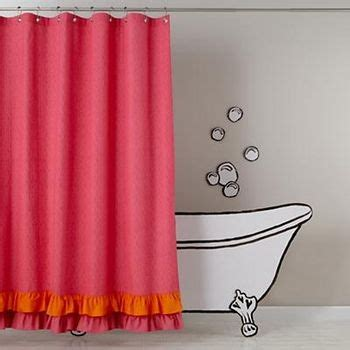 Land Of Nod Shower Curtain - catalog spree shower curtains pink and orange