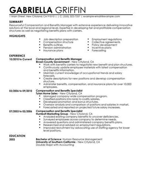 elements to add in benefit manager resume