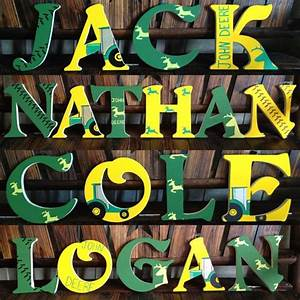 1000 ideas about paint wooden letters on pinterest With john deere wooden letters