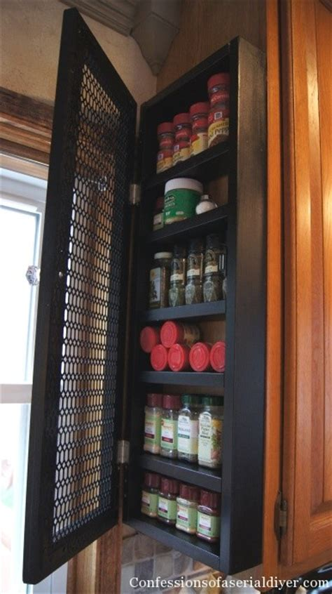 Kitchen Cupboard Spice Rack by Diy Spice Cabinet And 17 More Kitchen Organization Ideas