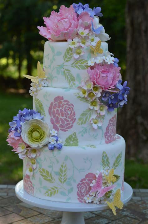 garden wedding cake  gumpaste flowers cakecentralcom