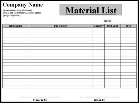 material template list templates best word templates part 2