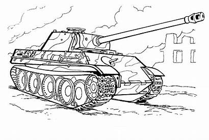 Tank Coloring Germany Tanks Vehicles