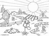 Coloriage Paysage Ete Nature Coloring Dessin Imprimer Paisaje Countryside Vacances Colorear Landscape Drawings Dibujos Dibujo Gratuit Outline Paisajes Pintar Drawing sketch template