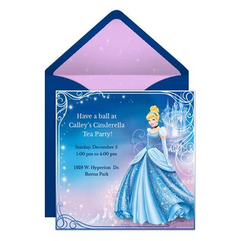 Cinderella Party Online Premium Invitation  Disney Family
