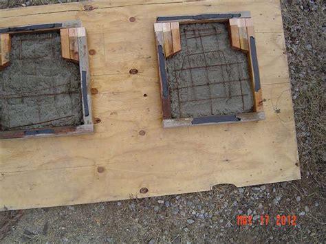 concrete bench plans  woodworking