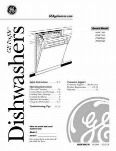 Ge Pdw7300gbb Dishwasher Download Manual For Free Now