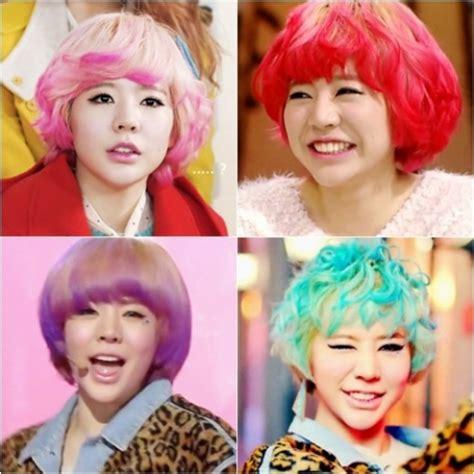 foto anime cantik berambut panjang generation berbeda warna warni rambut