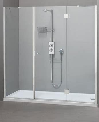 docce a muro parete doccia di cristallo in nicchia silis