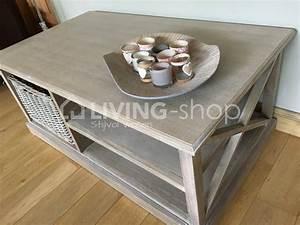 Table Basse Panier : table basses avec panier table salon rustique en ligne living shop shop ~ Teatrodelosmanantiales.com Idées de Décoration