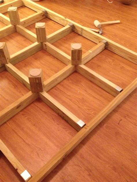 platform   box springs  lay  top
