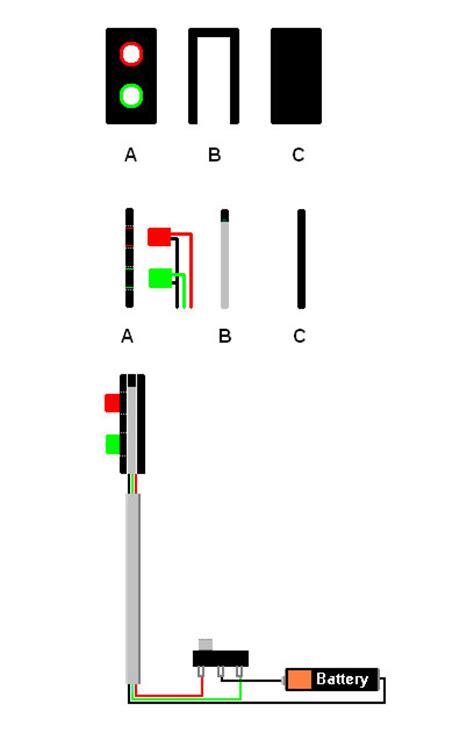 build   model railway signal