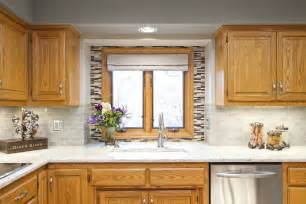 golden oak cabinets kitchen eclectic with backsplash delta faucet dinette beeyoutifullife
