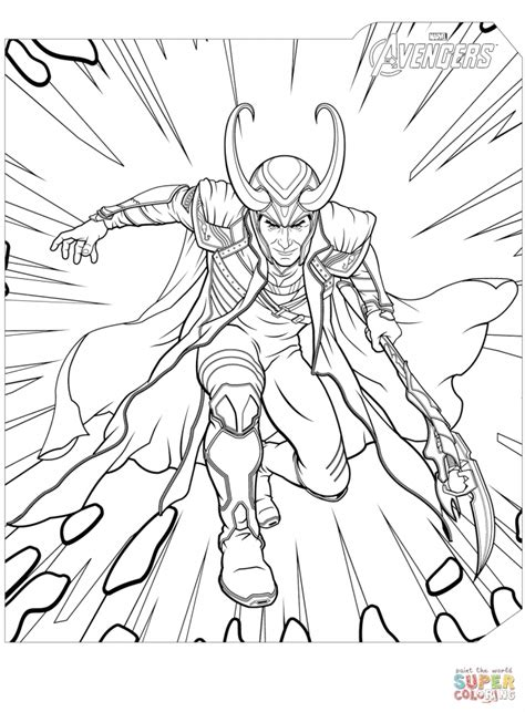 get this avengers coloring pages loki the villain 78532