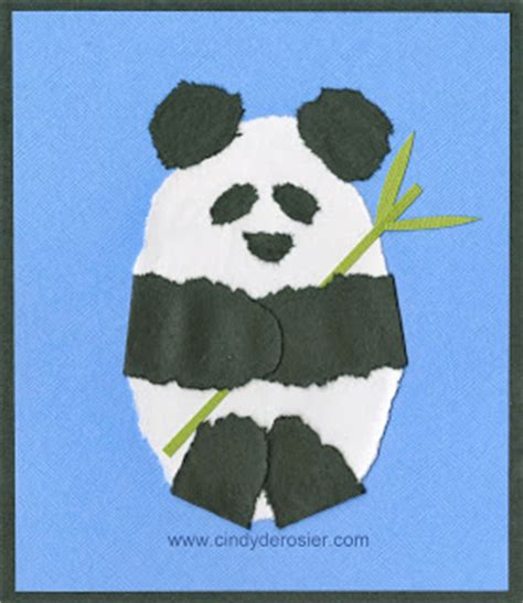 panda crafts for preschoolers torn paper panda family crafts 496