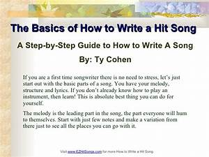 The Basics Of How To Write A Hit Song
