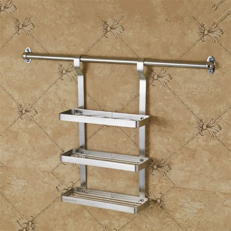 Hanging Spice Racks For Kitchen by Three Layer Stainless Steel Hanging Spice Rack Wall