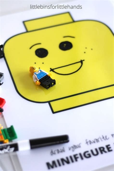 lego minifigure drawing emotions activity  kids