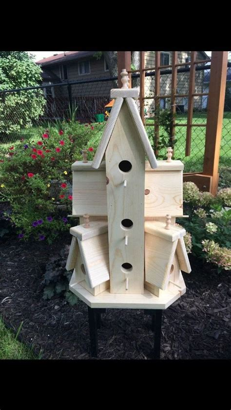 beautiful xtra large handcrafted wooden bird house condo
