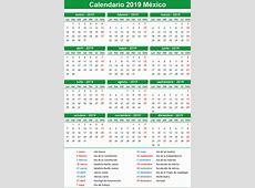 Calendario 2019 México Festivos Mexico