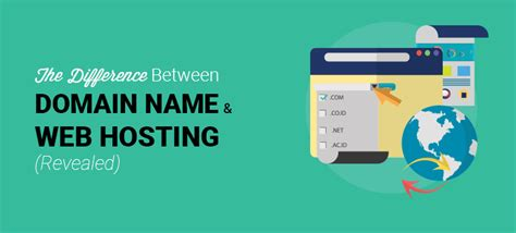 the difference between domain name and web hosting revealed