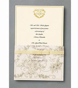 wiltonr 25 ct gold wedding toile invitation kit at joanncom With wedding invitations joanns