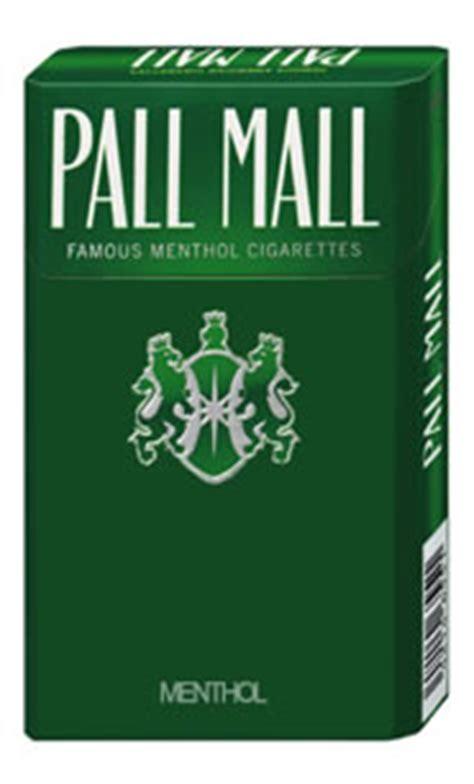 cigs pack pall mall menthol box