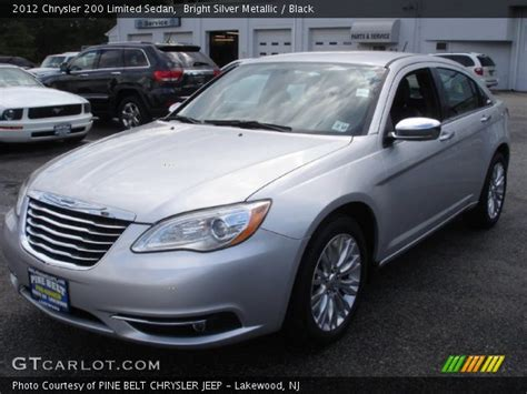 2012 Chrysler 200 Limited by Bright Silver Metallic 2012 Chrysler 200 Limited Sedan