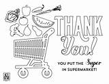 Coloring Grocery Sheets Sheet Nico Supermarket Popular sketch template