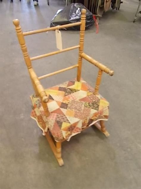 vintage cass toys childs rocking chair usa  rare item