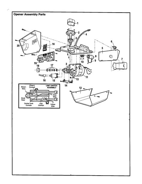 craftsman garage door opener parts diagram automotive parts diagram