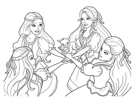 barbie    musketeers coloring pages