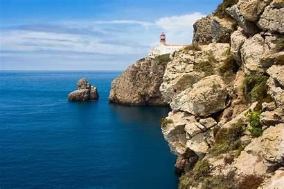 Portugal Landscape Algarve Nature Plateau Ocean Lighthouse