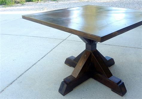 pedestal table base white x base pedestal table diy projects