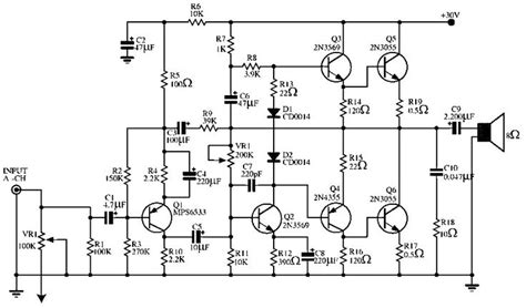 audio power amplifier circuit   elektronil