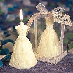 wedding favors candles wedding gown candle favors